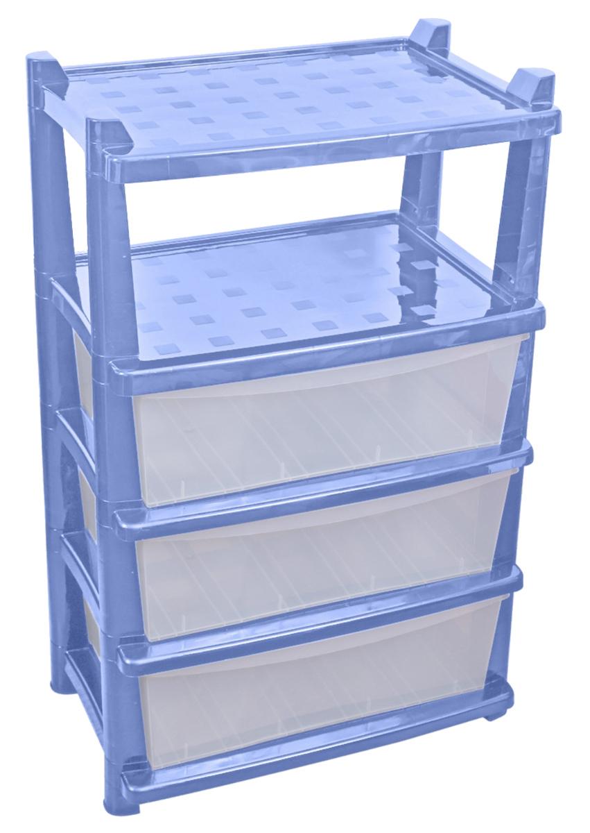 Комод BranQ Deco, цвет: голубой, 3 секции. BQ3782ГЛПBQ3782ГЛПКомод BranQ Deco изготовлен из высококачественного пластика. Комод предназначен для хранения различных вещей и состоит из трех вместительных выдвижных секций и одной полки. Такой необычный и яркий комод надежно защитит вещи от загрязнений, пыли и моли, а также позволит вам хранить их компактно и с удобством. Стильный дизайн комода дополнит интерьер комнаты.