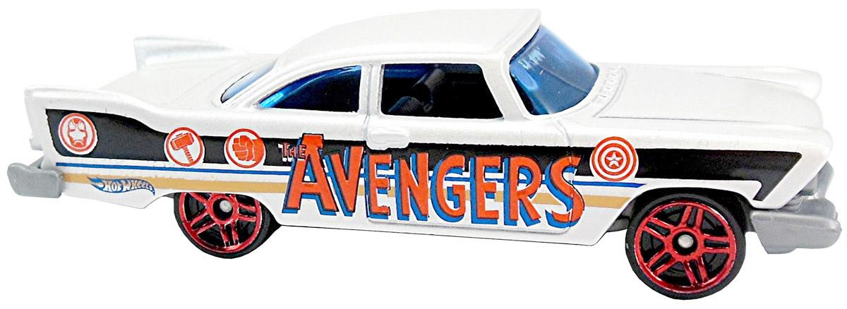 Hot Wheels Машинка Captain America 57 Plymouth FuryDJK75_DJK78Модель машины создана под вдохновением от нового фильма Первый мститель. Гражданская война и вселенной Marvel. Игрушка изготовлена из высококачественного пластика с металлическими элементами. Колесики машинки имеют свободный ход. Ваш ребенок будет часами играть с этой машинкой, придумывая различные истории. Порадуйте его таким замечательным подарком!