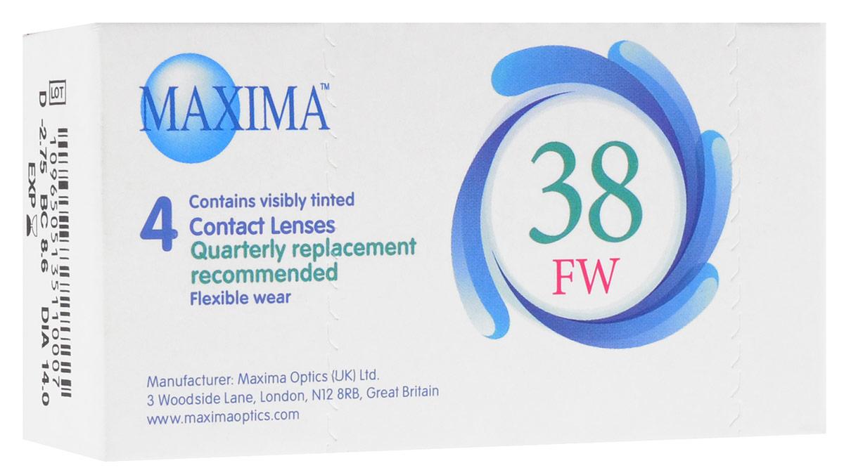 Maxima контактные линзы 38 FW (4 шт / 8.6 / -2.75)