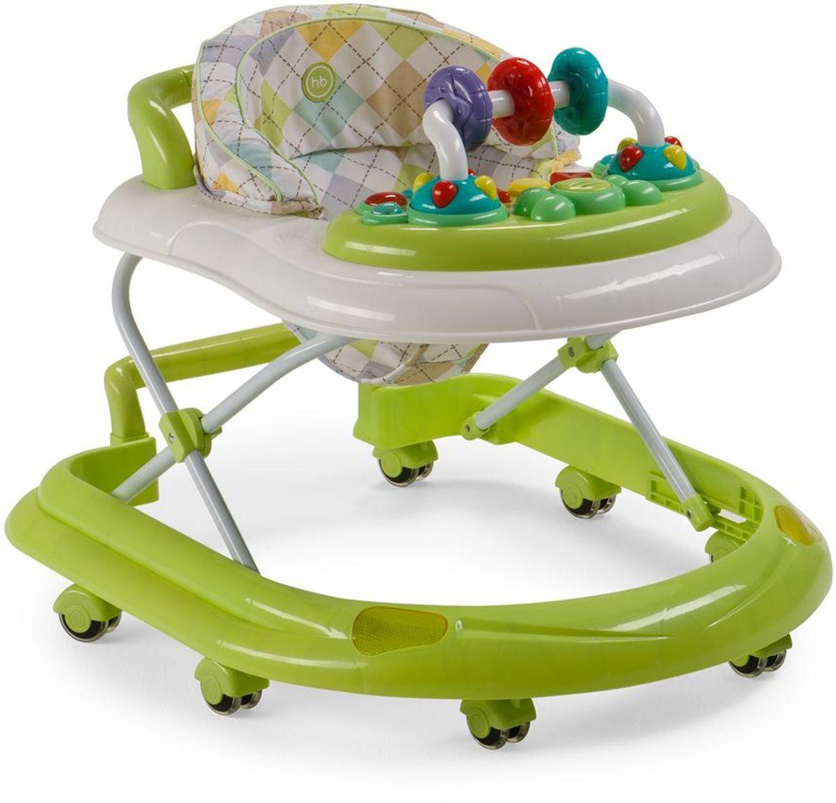 Happy Baby Ходунки Smiley V2 цвет зеленый4650069782858Классические ходунки SMILEY V2 развивают координацию движений и помогут ребёнку научиться держать равновесие. Мягкие цвета ходунков привлекут внимание ребенка. Игровая панель со звуковыми эффектами и игрушками поможет развить у малыша зрение, слух, хватательный рефлекс и мелкую моторику. Мягкое, удобное сиденье легко регулируется в 3-х положениях в зависимости от роста. Ходунки SMILEY V2 оборудованы специальными силиконовыми колесами, которые не поцарапают напольное покрытие. Игровая панель работает от 2-х пальчиковых батареек (тип АА). ТЕХНИЧЕСКИЕ ХАРАКТЕРИСТИКИ: • Возраст: от 7 месяцев • Максимальный вес ребенка: 12 кг • Вес ходунков: 3,5 кг • Габариты в сложенном виде ДхШхВ: 70х59,5х30 см • Габариты в разложенном виде ДхШхВ: 70х59,5х54 см • Регулируемое сиденье: да ИНФОРМАЦИЯ О ТОВАРЕ: • Регулируются по высоте, 3 положения • Развивают координацию движений • Учат ребенка держать равновесие • На задней части...