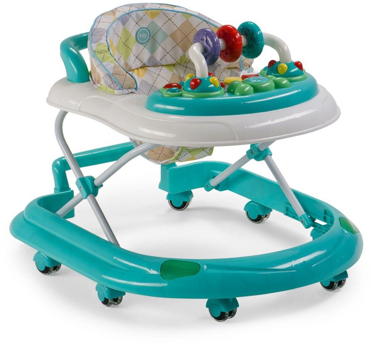 Happy Baby Ходунки Smiley V2 цвет голубой4650069783176Классические ходунки SMILEY V2 развивают координацию движений и помогут ребёнку научиться держать равновесие. Мягкие цвета ходунков привлекут внимание ребенка. Игровая панель со звуковыми эффектами и игрушками поможет развить у малыша зрение, слух, хватательный рефлекс и мелкую моторику. Мягкое, удобное сиденье легко регулируется в 3-х положениях в зависимости от роста. Ходунки SMILEY V2 оборудованы специальными силиконовыми колесами, которые не поцарапают напольное покрытие. Игровая панель работает от 2-х пальчиковых батареек (тип АА). ТЕХНИЧЕСКИЕ ХАРАКТЕРИСТИКИ: • Возраст: от 7 месяцев • Максимальный вес ребенка: 12 кг • Вес ходунков: 3,5 кг • Габариты в сложенном виде ДхШхВ: 70х59,5х30 см • Габариты в разложенном виде ДхШхВ: 70х59,5х54 см • Регулируемое сиденье: да ИНФОРМАЦИЯ О ТОВАРЕ: • Регулируются по высоте, 3 положения • Развивают координацию движений • Учат ребенка держать равновесие • На задней части...
