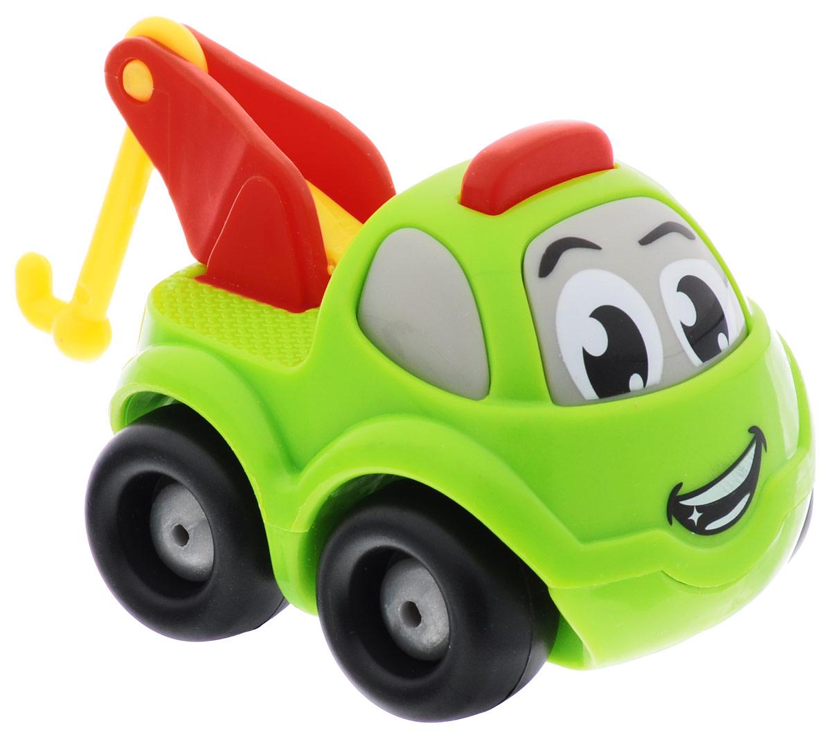 Smoby Машинка Vroom Planet с краном цвет салатовый211257_салатовыйМини-машинка с краном Smoby привлечет внимание вашего ребенка и надолго останется его любимой игрушкой. Плавные формы без острых углов, яркие цвета - все это выгодно выделяет эту игрушку из ряда подобных. Игрушка в виде машинки, у которой вместо кузова установлен яркий поднимающийся кран. Кабина машинки оформлена в виде лица - с глазками и задорной улыбкой. Машинка развивает концентрацию внимания, координацию движений, мелкую моторику рук, цветовое восприятие и воображение. Малыш будет часами играть с этой машинкой, придумывая разные истории.