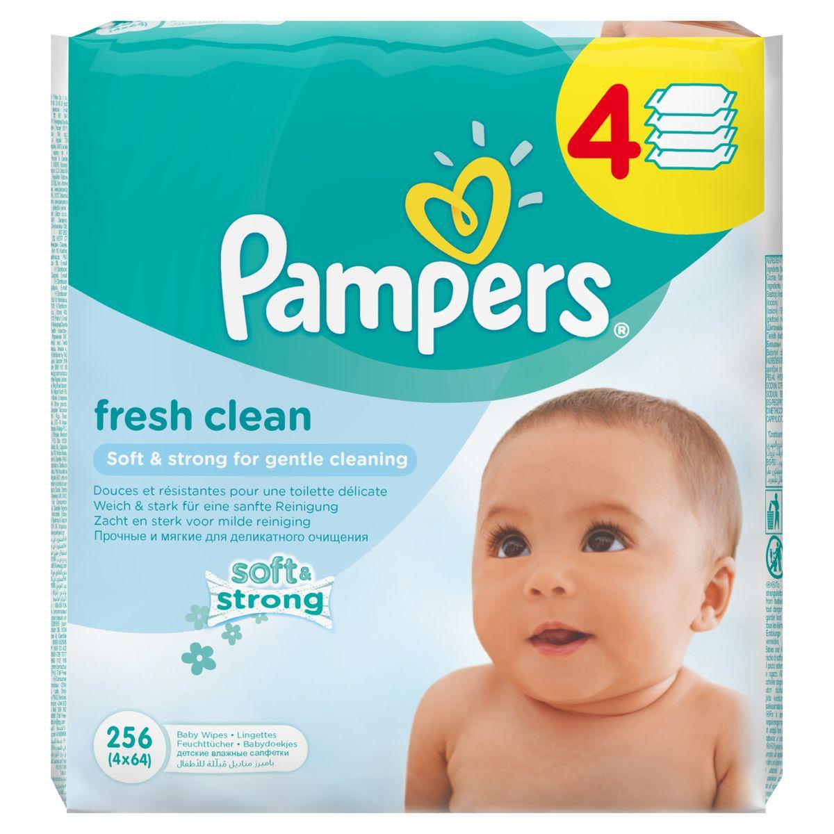 Pampers Детские влажные салфетки Baby Fresh Clean 256 штPA-81551132Прочные и мягкие влажные салфетки Pampers Baby Fresh Clean для деликатного очищения. Каждый малыш нуждается в нежном очищении, именно поэтому влажные салфетки Pampers Baby Fresh с дополнительным увлажнением позволяют бережно заботиться о детской коже. Благодаря своей уникальной мягкой текстуре SoftGrip, они очищают кожу малыша еще нежнее, чем раньше, поддерживая естественный уровень pH, облегчая мамам смену подгузника. Не бойтесь сюрпризов с Pampers Baby Fresh! Дерматологически протестированы. С новым освежающим ароматом. Товар сертифицирован.