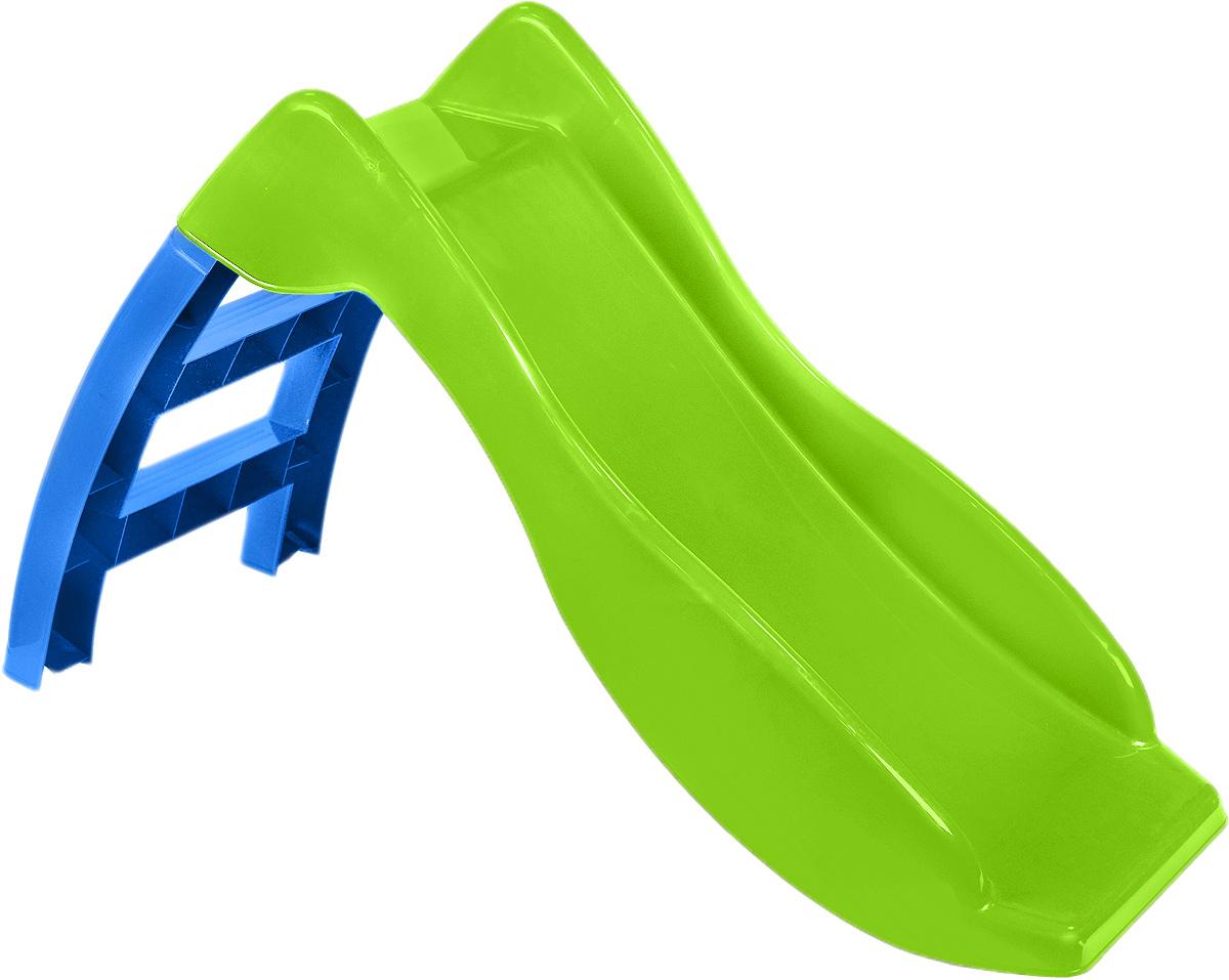 PalPlay Детская горка цвет синий зеленый307_голубой, салатовыйКататься с горки - одно из самых любимых развлечений детей всех возрастов. Детская горка PalPlay занимает мало места, легко собирается и разбирается. Благодаря тому, что пластик, из которого сделана горка, устойчив к воздействию солнечных лучей и других природных явлений, использовать горку можно не только дома, но и на улице. Горка оснащена удобной лесенкой с безопасными ступенями, устойчива и надежна. Яркий дизайн обязательно понравится малышу. Горка предназначена для детей от 2 лет и весом до 25 кг.