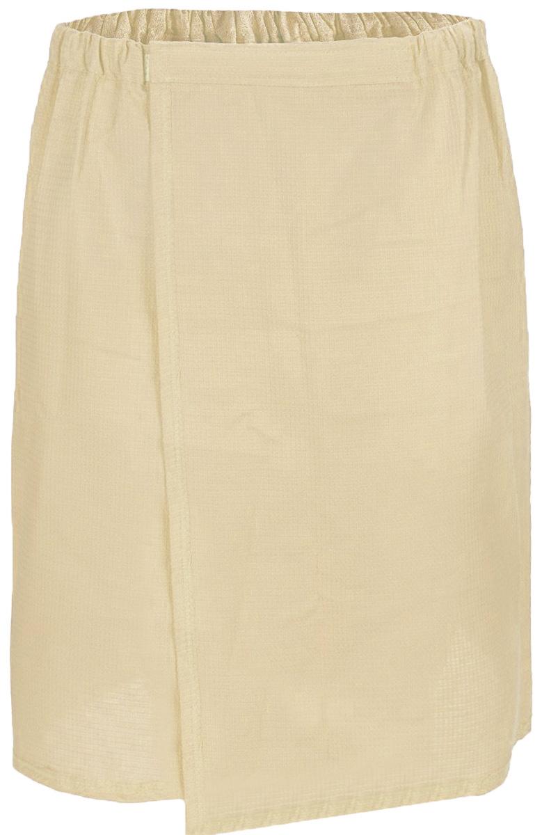 Парео для бани и сауны Главбаня, женское, цвет: бежевыйБ85_бежевыйПарео для бани и сауны Главбаня выполнено из легкой вафельной ткани (100% натуральный хлопок). Изделия из такой ткани хорошо впитывают влагу, являются практичными и износостойкими. Парео снабжено резинкой и застежкой-липучкой, поэтому универсально. Оно прекрасно послужит в качестве полотенца или накидки и защитит вас от воздействия горячих предметов в парилке. Парео - полезный аксессуар для всех любителей попариться в бане.