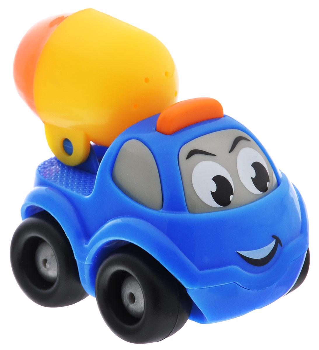 Smoby Машинка Vroom Planet с бочкой цвет синий211257_синийМини-машинка с бочкой Smoby Vroom Planet привлечет внимание вашего ребенка и надолго останется его любимой игрушкой. Плавные формы без острых углов, яркие цвета - все это выгодно выделяет эту игрушку из ряда подобных. Игрушка в виде машинки, у которой вместо кузова установлена яркая бочка. Кабина машинки оформлена в виде лица - с глазками и задорной улыбкой. Машинка развивает концентрацию внимания, координацию движений, мелкую моторику рук, цветовое восприятие и воображение. Малыш будет часами играть с этой машинкой, придумывая разные истории.