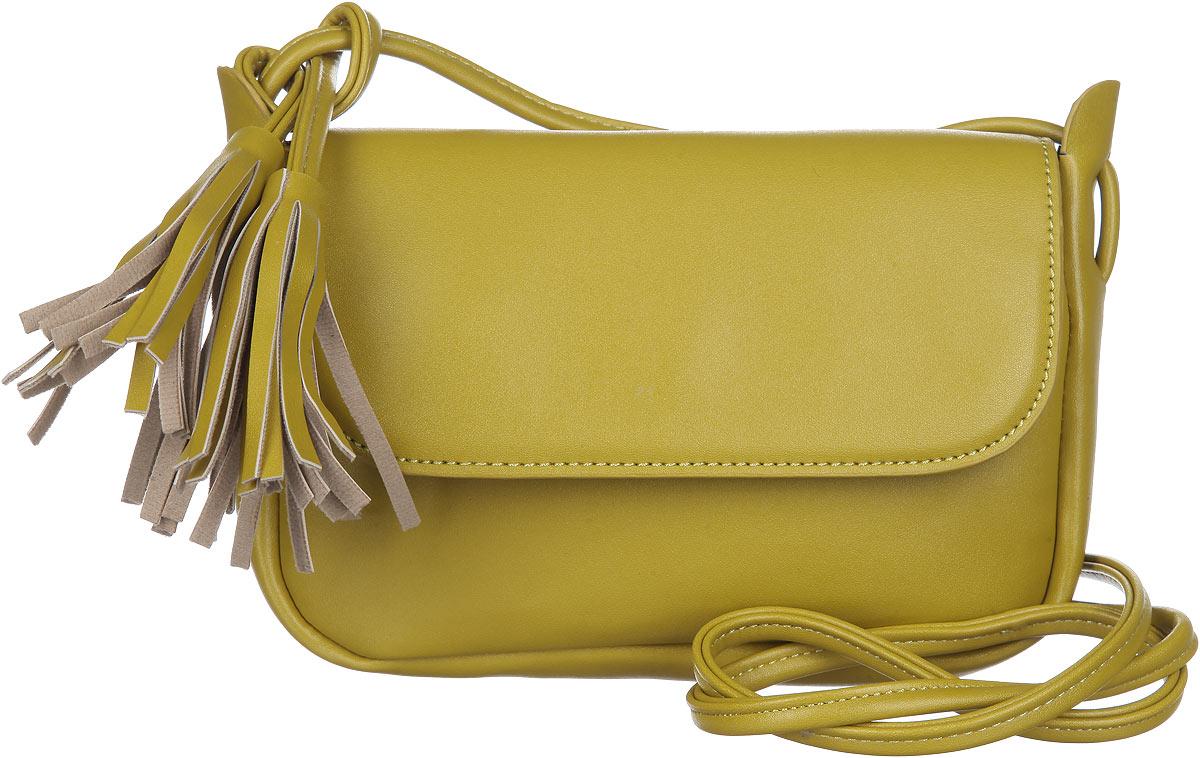 Сумка женская Orsa Oro, цвет: горчичный. D-214/5D-214/5Изысканная женская сумка Orsa Oro выполнена из экокожи. Сумка закрывается клапаном на магнитную кнопку. Внутри одно большое отделение с вшитым карманом на молнии. Сумка оснащена плечевым ремнем декорированным кистями из экокожи. Практичная и стильная сумка прекрасно завершит ваш образ.