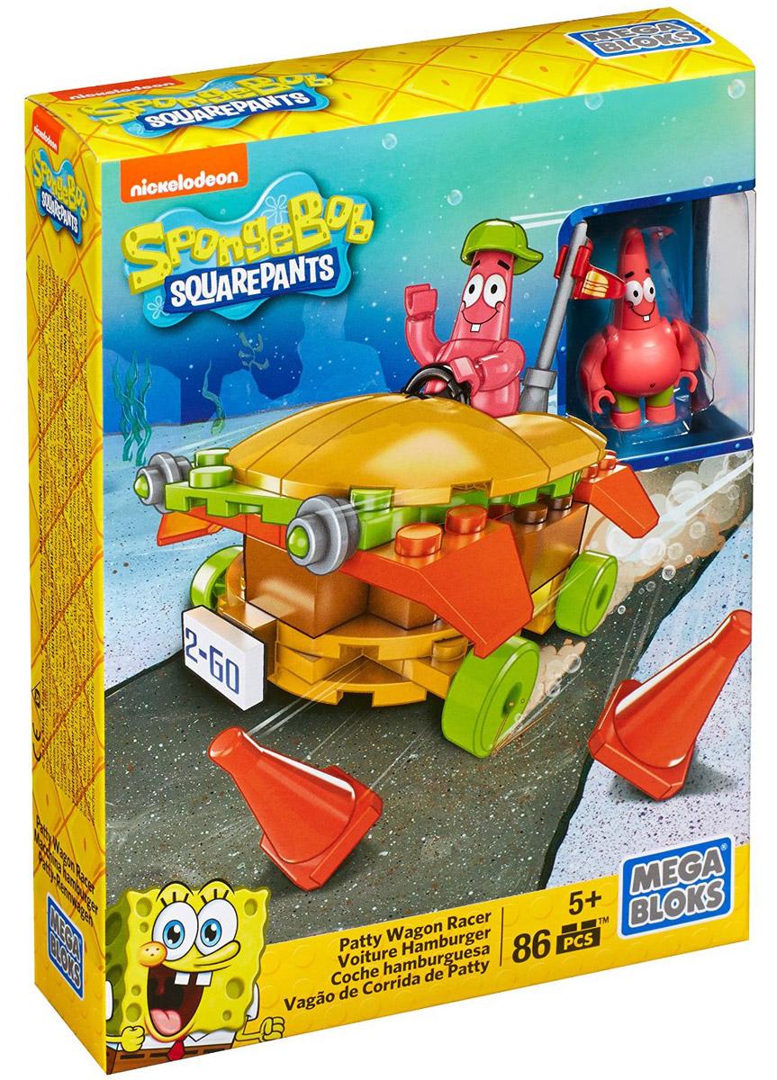 Mega Bloks Губка Боб Конструктор Гоночный бургермобильCNF65_CNF67Патрик за рулем, и гоночный бургермобиль готов к старту! Теперь с конструктором Mega Bloks Гоночный бургермобиль вы сможете собрать самый быстрый и вкусный бургермобиль, состоящий из нескольких слоев аппетитной начинки. Выводите свой гоночный бургермобиль на трек и маневрируйте между конусами. Патрик вне себя от радости и по этому случаю даже надел гоночный шлем! Соберите все гоночные наборы и проведите свою гонку в Бикини Боттом. В набор входит фигурка Патрика. Конструктор совместим с другими игровыми наборами Mega Bloks: Губка Боб.