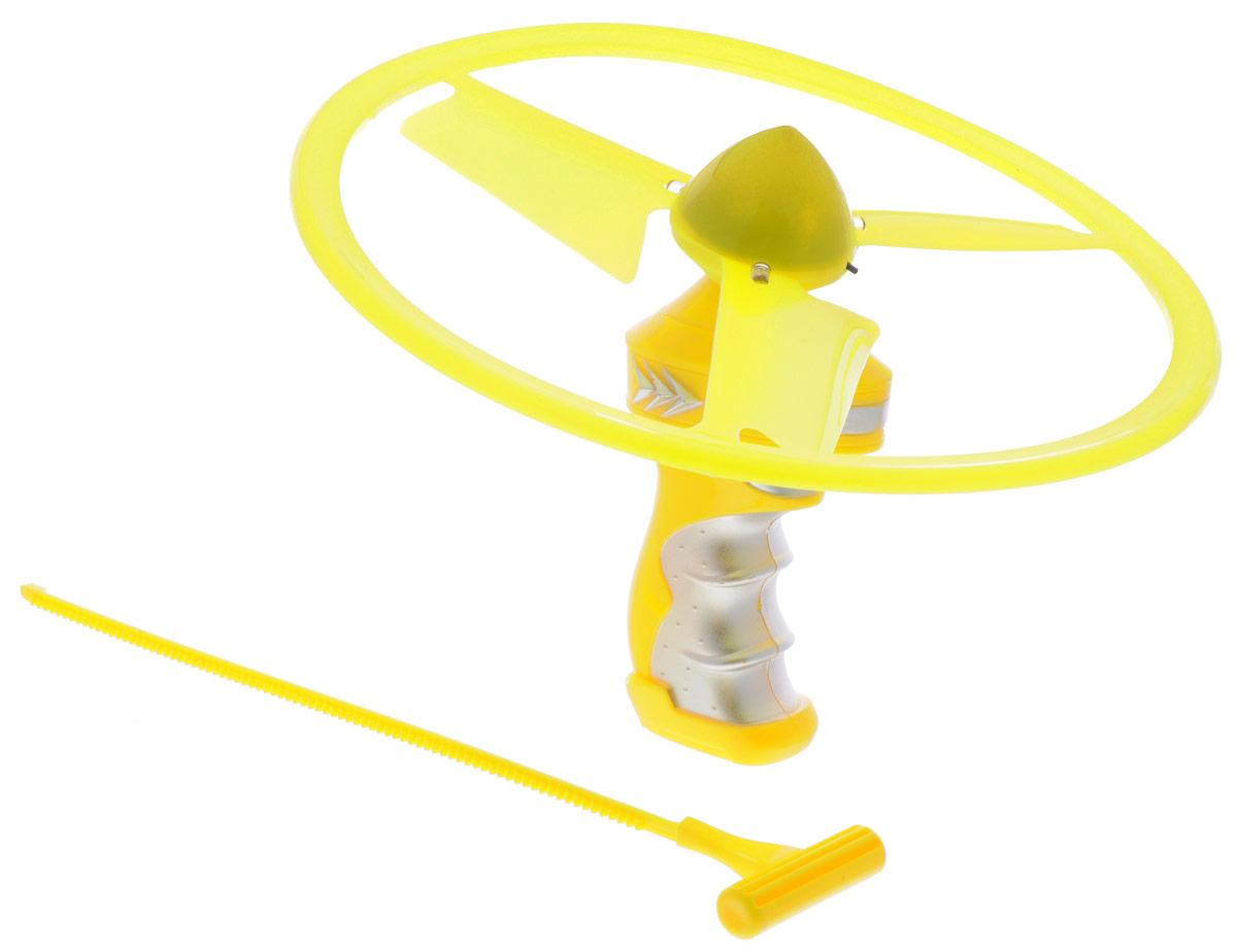 YG Sport Летающий диск Flash Frisbee цвет желтыйYG31JЭффектное игровое представление гарантирует приобретение летающего диска YG Sport Flash Frisbee с неоновой подсветкой. Помимо летающего диска в комплект входит пусковое устройство, которое поможет запустить диск, а специальные лопасти сделают его полет еще более продолжительным. Диск обладает превосходными аэродинамическими характеристиками и предназначен для активных игр на пляже, во дворе и в просторном помещении. Спортивное развлечение развивает координацию и моторику движений, меткость, ловкость и внимательность.