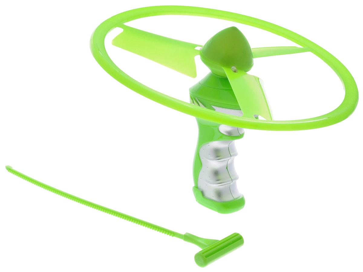 YG Sport Летающий диск Flash Frisbee цвет салатовыйYG31JЭффектное игровое представление гарантирует приобретение летающего диска YG Sport Flash Frisbee с подсветкой. Помимо летающего диска в комплект входит пусковое устройство, которое поможет запустить диск, а специальные лопасти сделают его полет еще более продолжительным. Диск обладает превосходными аэродинамическими характеристиками и предназначен для активных игр на пляже, во дворе и в просторном помещении. Спортивное развлечение развивает координацию и моторику движений, меткость, ловкость и внимательность.