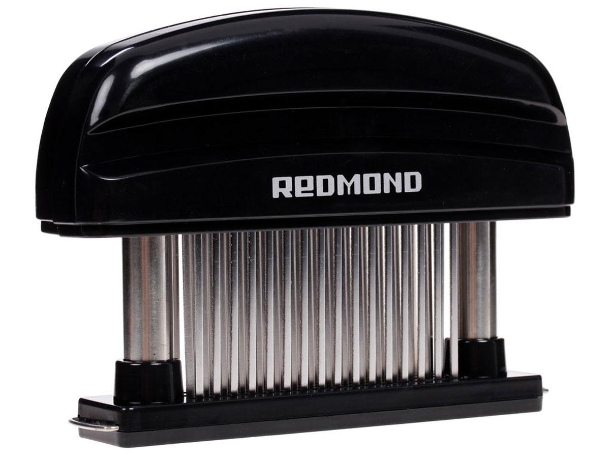 Redmond RAM-MT1 размягчитель мясаRAM-MT1Размягчитель мяса Redmond RAM-MT1 - инновационная замена молотку для отбивания. Он отлично подходит для предварительной подготовки всех видов красного мяса и стейков. Размягчитель сохраняет аппетитный вид и вкусовые качества мяса. 48 лезвий из нержавеющей стали разъединяют ткани, не нарушая структуры продукта, при этом делают его мягким и сочным. Защитный кожух обеспечит безопасность хранения, а благодаря съемному основанию изделие удобно мыть. Количество зубцов: 48 Съемное основание