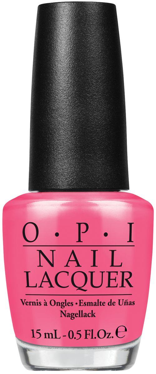 OPI Лак для ногтей Kiss Me Im Brazilian, 15 млNLA68Лак для ногтей OPI быстросохнущий, содержит натуральный шелк и аминокислоты. Увлажняет и ухаживает за ногтями. Форма флакона, колпачка и кисти специально разработаны для удобного использования и запатентованы.