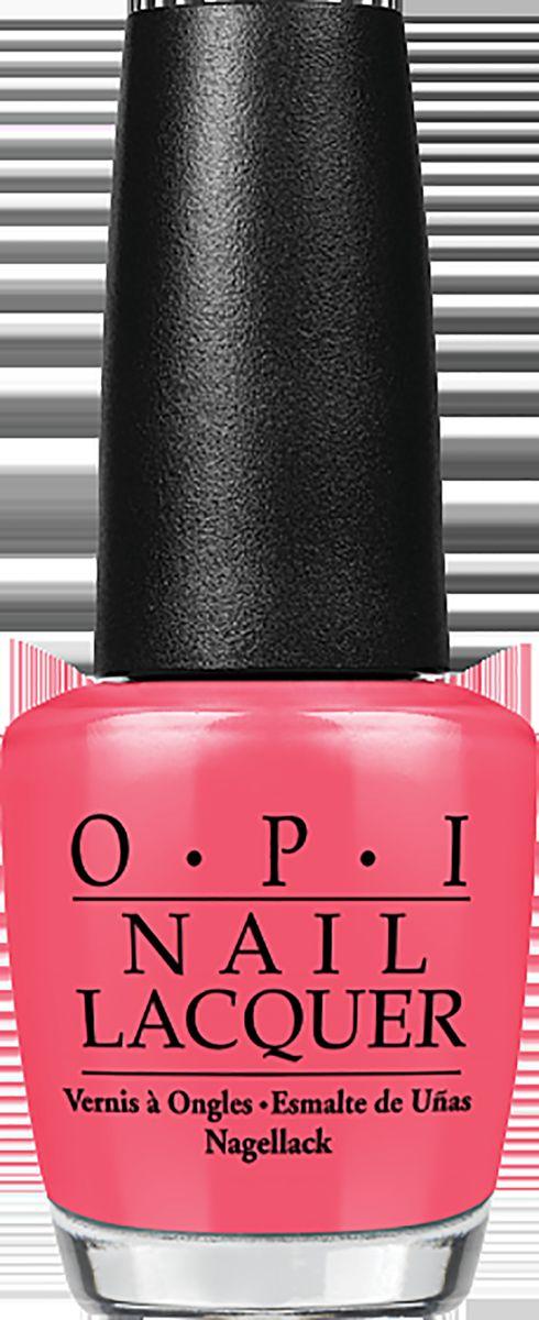 OPI Лак для ногтей Touring America - My Address is Hollywood, 15 млNLT31Лак для ногтей OPI быстросохнущий, содержит натуральный шелк и аминокислоты. Увлажняет и ухаживает за ногтями. Форма флакона, колпачка и кисти специально разработаны для удобного использования и запатентованы.