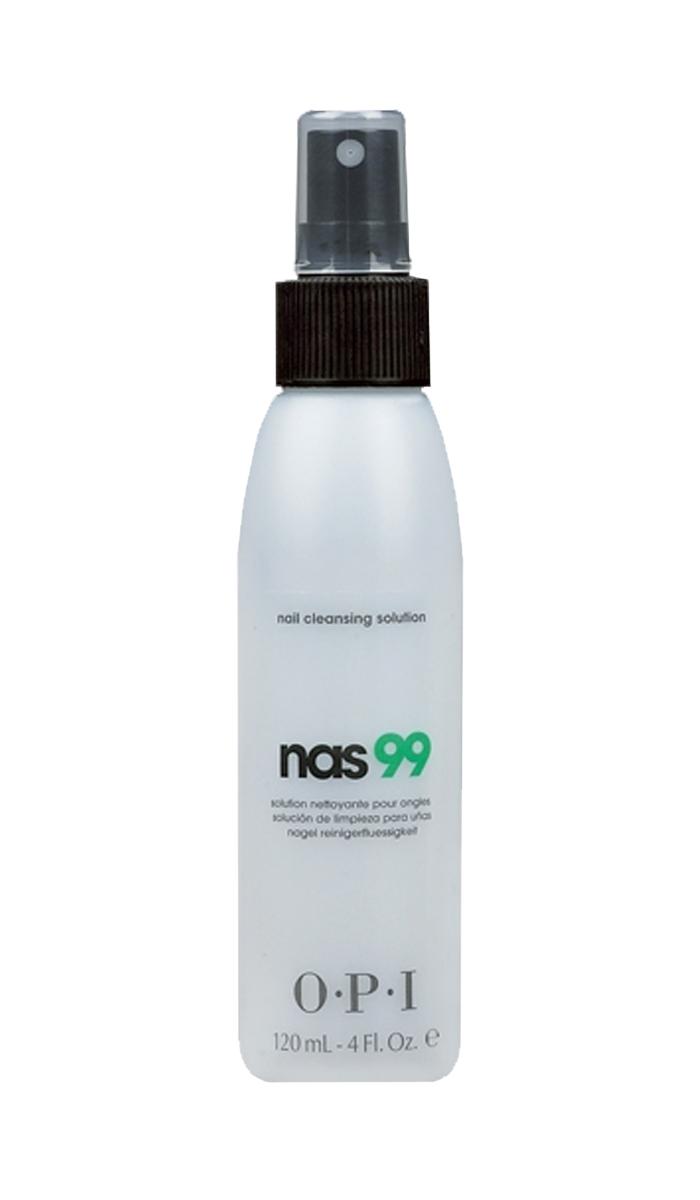 OPI Дезинфицирющая жидкость для ногтей Nas-99, 120 млSD303Очищающее средство для ногтей с антисептическим эффектом НАС-99 OPI. Обязательно использовать для дезинфекции и обезжиривания ногтей, инструментов в процедурах маникюра и педикюра и моделирования искусственных ногтей. Содержит Тимол, предотвращающий развитие грибка ногтей и бактерий. Не содержит воды и удаляет излишки влаги и масла с поверхности ногтевой пластины.