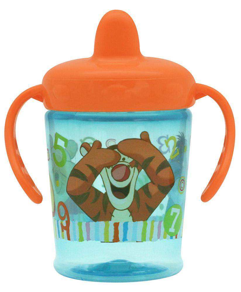 Lubby Поильник-непроливайка Медвежонок Винни от 6 месяцев цвет голубой оранжевый 210 мл