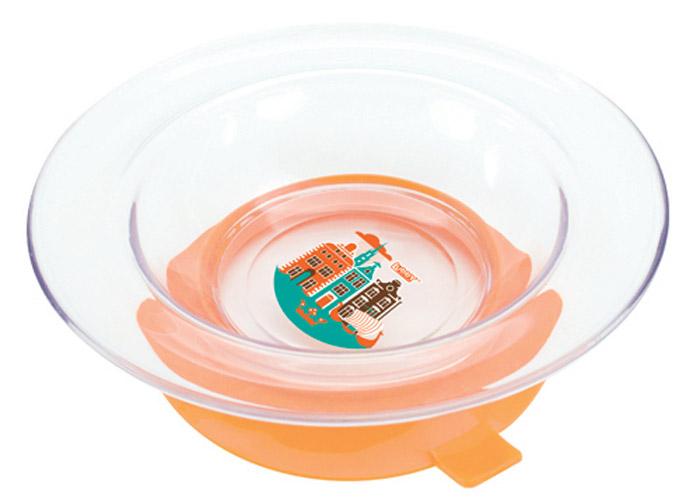 Lubby Тарелка для кормления Любимая с присоской цвет оранжевый13953_оранжевыйLubby Тарелка для кормления Любимая с присоской цвет оранжевый
