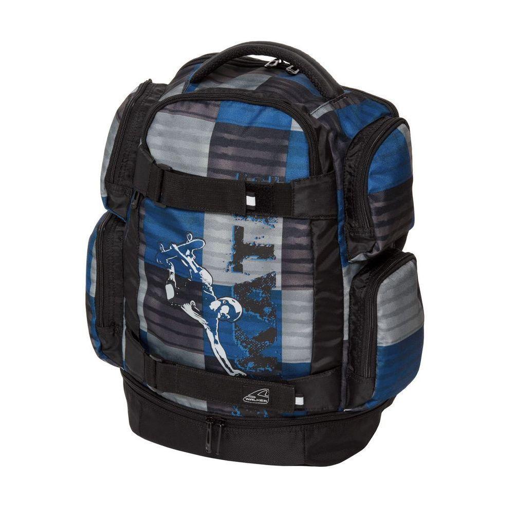 Walker Школьный ранец Rocket42410/70Уплотненная спинка и лямки помогают лучше распределить нагрузку и сохранить форму рюкзака независимо от его наполнения. Светоотражающие элементы расположены на передней части рюкзака на боковых и лямках. С ним путешествие становится безопасным.