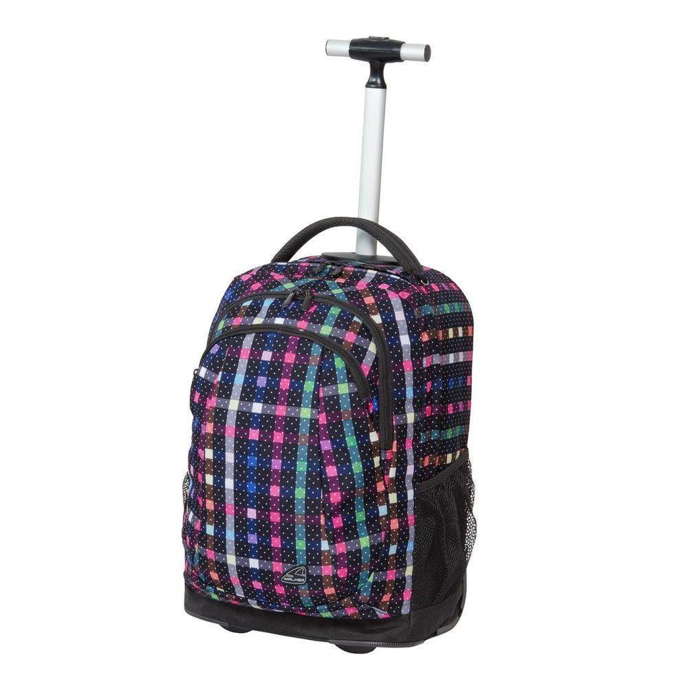 Walker Школьный ранец Trolley Spin Dizzy Dots42481/116Уплотненная спинка и лямки помогают лучше распределить нагрузку и сохранить форму рюкзака независимо от его наполнения.