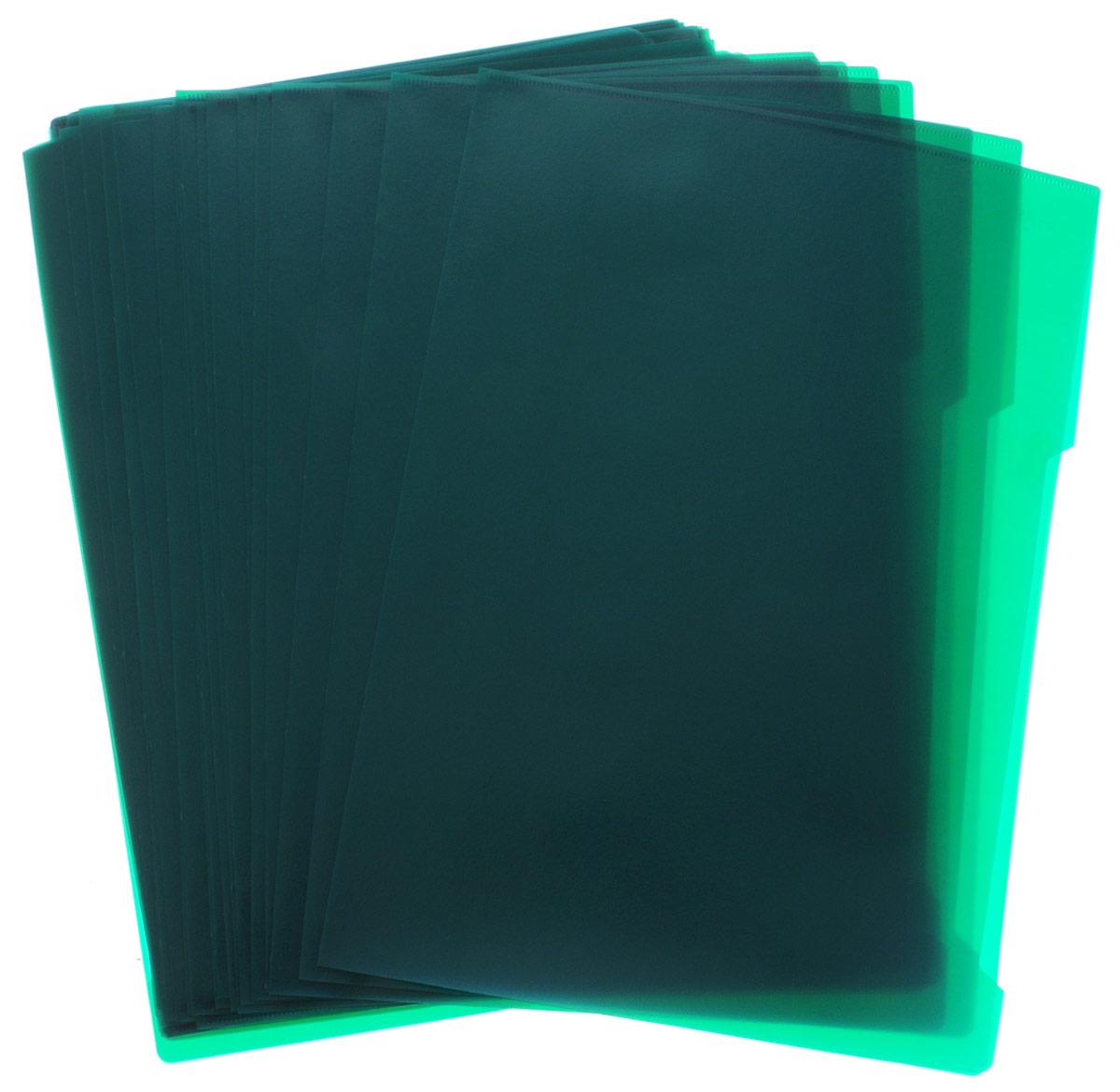 Durable Папка-уголок цвет зеленый 50 шт2312-05Папка-уголок Durable изготовлена из высококачественного полипропилена. Это удобный и практичный офисный инструмент, предназначенный для хранения и транспортировки рабочих бумаг и документов формата А4. Папка оснащена выемкой для перелистывания листов. В наборе - 50 папок зеленого цвета. Папка-уголок - это незаменимый атрибут для студента, школьника, офисного работника. Такая папка надежно сохранит ваши документы и сбережет их от повреждений, пыли и влаги.