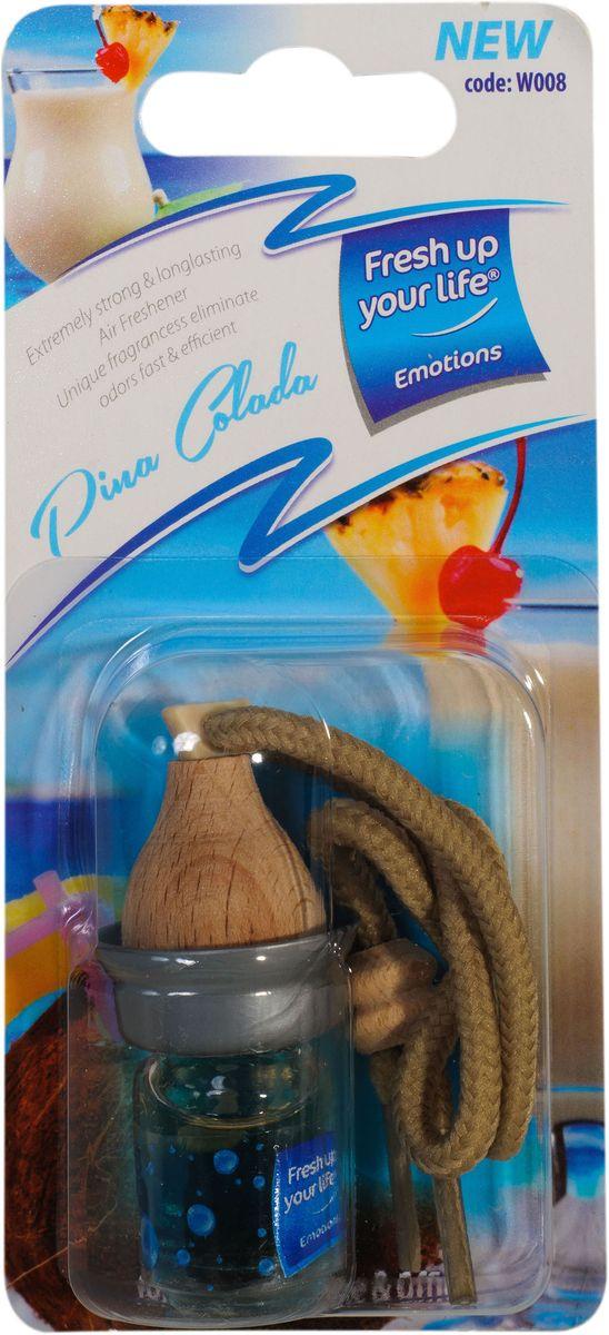 Ароматизатор воздуха жидкий Пина коладаW 008Эффективно длительное время борется с посторонними запахами и наполняет воздух приятными ароматами. Материал: нетоксичные отдушки, пропиленгликоль, дованол.