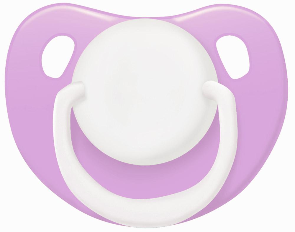 Lubby Пустышка силиконовая Классика от 0 месяцев цвет сиреневый ( 13956_сиреневый )