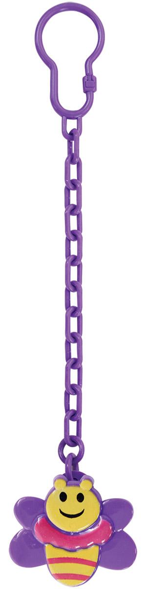 Lubby Клипса-держатель для пустышки Пчелка цвет фиолетовый ( 11861_фиолетовый )