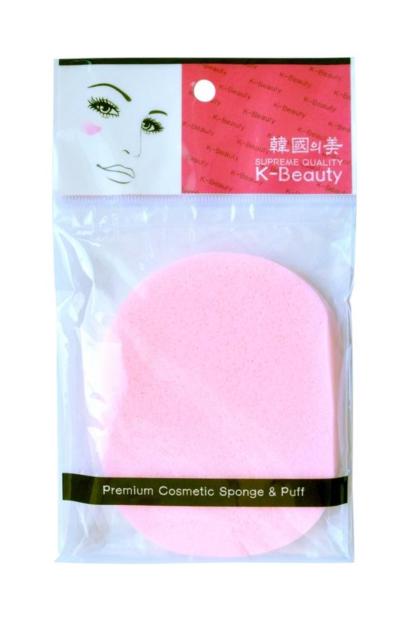 K-Beauty Спонж косметический для очищения кожи лица, розовый, 1 шт ( 100047 )
