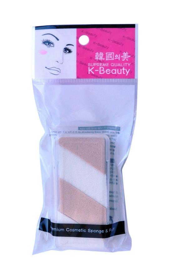 K-Beauty Спонж косметический двухцветный, 4 шт