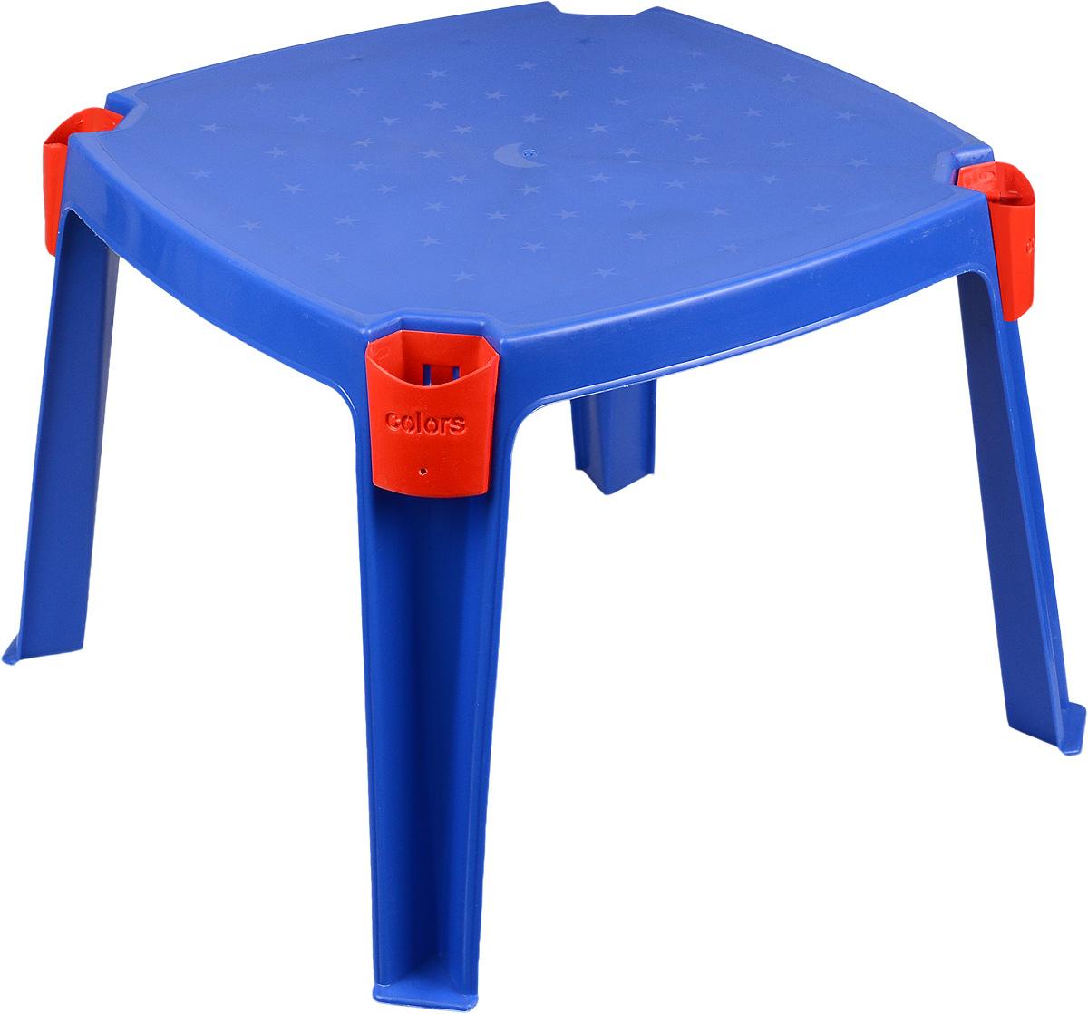 Marian Plast Стол детский с карманами 53 см х 53 см цвет синий