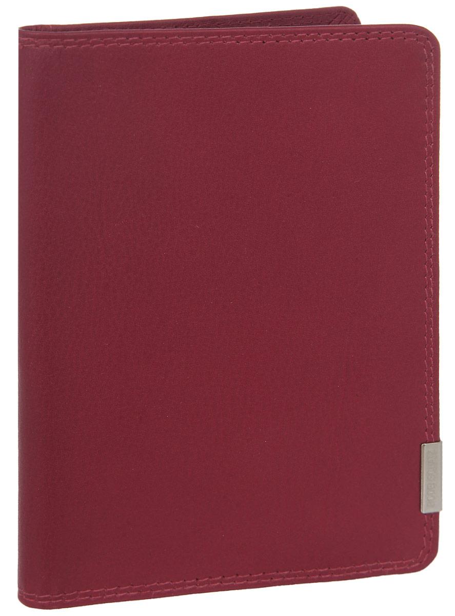 Обложка для паспорта женская Bodenschatz, цвет: красный. 8-724/13