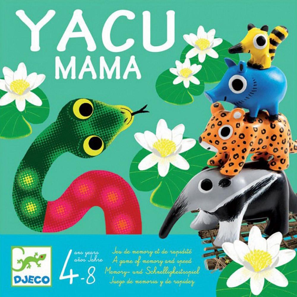 Djeco Настольная игра Якумама08496Настольная игра Djeco Якумама - это прекрасная игрушка, изготовленная из дерева. Смотри в оба, ведь ты находишься в опасной воде! Когда появляется страшная анаконда, нужно быстро спасти животных, прежде чем их съест гигантская змее. Игра довольно простая и интересная. Она очень понравится Вашему малышу. Здесь много интересных ходов и Ваш ребёнок будет играть с удовольствием. Это простая игра, очень весёлая.