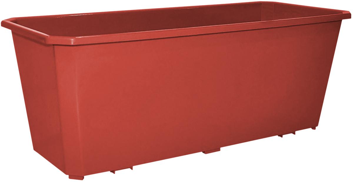 Ящик балконный InGreen, цвет: терракотовый, 40 х 17 х 15 см. ING1801ТРING1801ТРБалконный ящик InGreen, изготовленный из высококачественного цветного пластика, предназначен для выращивания цветов и однолетних растений как на балконе, так и в комнатных условиях.