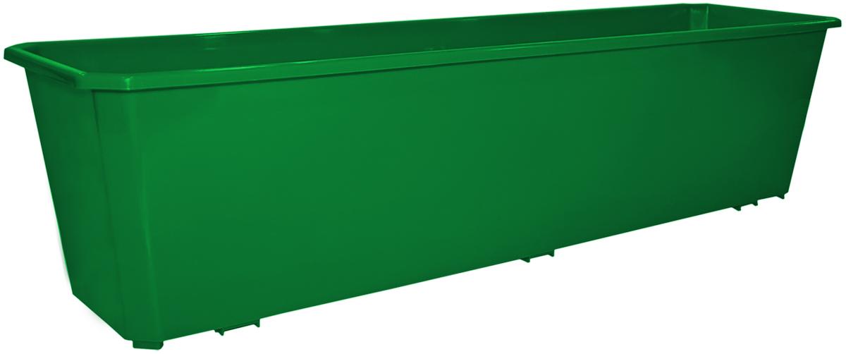 Ящик балконный InGreen, цвет: темно-зеленый, 60 х 17 х 15 см. ING1802ТЗЛING1802ТЗЛБалконный ящик InGreen, изготовленный из высококачественного цветного пластика, предназначен для выращивания цветов и рассады как на балконе, так и в комнатных условиях.