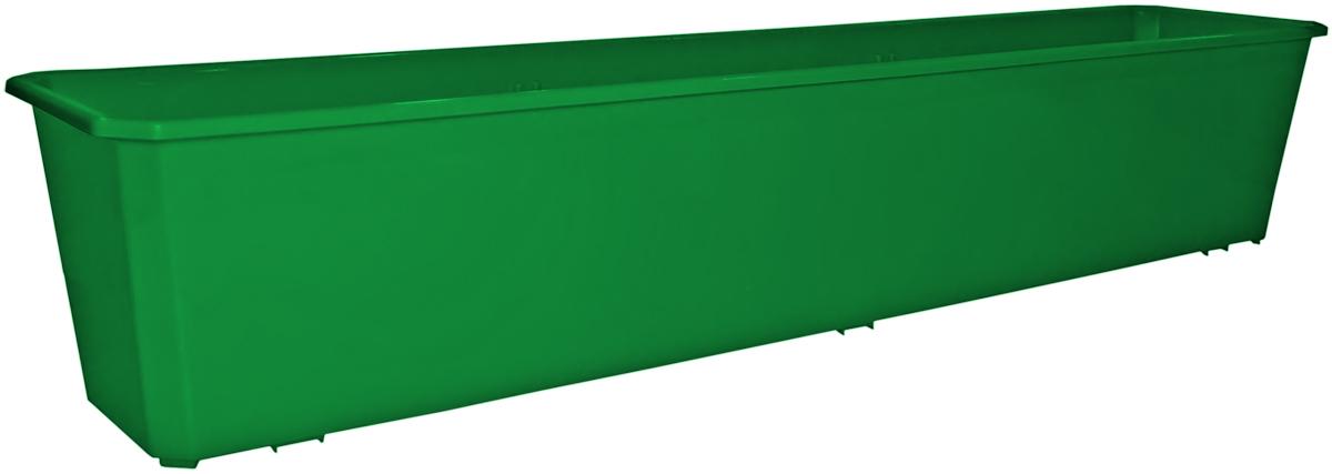 Ящик балконный InGreen, цвет: темно-зеленый, 80 х 17 х 15 см. ING1803ТЗЛING1803ТЗЛБалконный ящик InGreen, изготовленный из высококачественного цветного пластика, предназначен для выращивания цветов и рассады как на балконе, так и в комнатных условиях.
