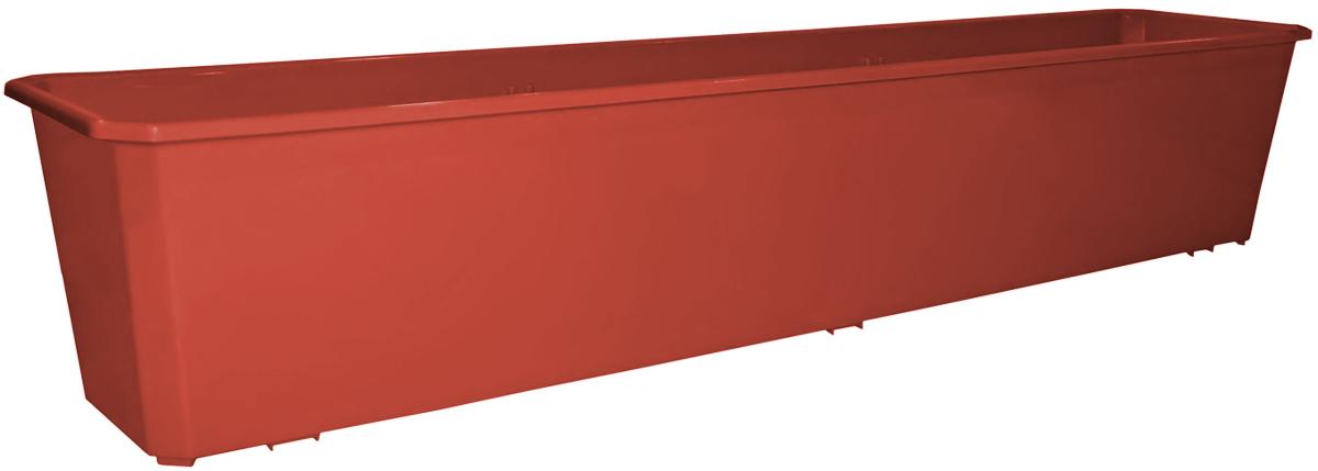 Ящик балконный InGreen, цвет: терракотовый, 80 х 17 х 15 см. ING1803ТРING1803ТРБалконный ящик InGreen, изготовленный из высококачественного цветного пластика, предназначен для выращивания цветов и рассады как на балконе, так и в комнатных условиях.