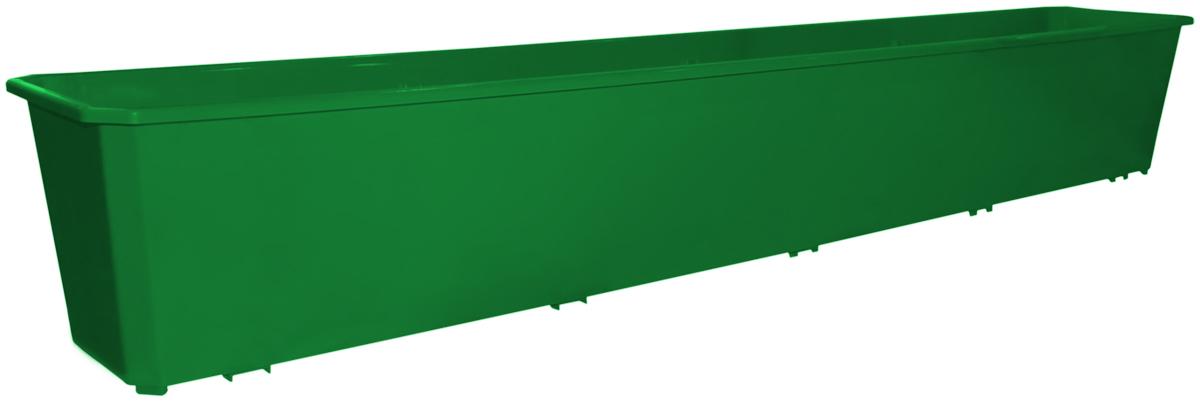 Ящик балконный InGreen, цвет: темно-зеленый, 100 х 17 х 15 см. ING1804ТЗЛING1804ТЗЛБалконный ящик InGreen, изготовленный из высококачественного цветного пластика, предназначен для выращивания цветов и рассады как на балконе, так и в комнатных условиях.