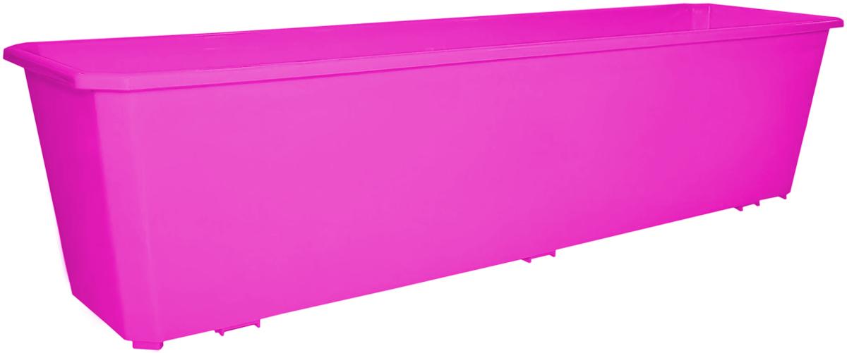Ящик балконный InGreen, цвет: фуксия, 60 х 17 х 15 см. ING1806ФКСING1806ФКСБалконный ящик InGreen, изготовленный из высококачественного цветного пластика, предназначен для выращивания цветов и рассады как на балконе, так и в комнатных условиях.