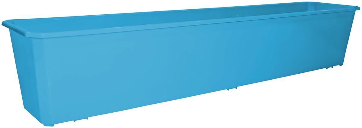 Ящик балконный InGreen, цвет: светло-синий, 80 х 17 х 15 см. ING1807СВСНING1807СВСНБалконный ящик InGreen, изготовленный из высококачественного цветного пластика, предназначен для выращивания цветов и рассады как на балконе, так и в комнатных условиях.