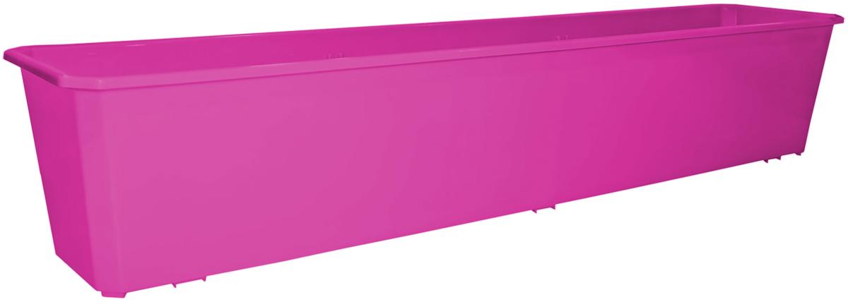 Ящик балконный InGreen, 80 см, цвет: фуксияING1807ФКСБалконный ящик предназначен для высаживания однолетних растений. Модель классической формы выполнена в универсальной цветовой гамме. Размерный ряд представлен 4 размерами. Балконный ящик прочный и, в тоже время, легкий. Неприхотлив в уходе и долговечен. Продается в комплекте с поддоном.