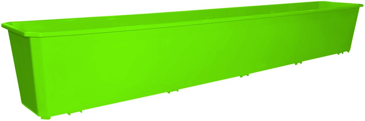 Ящик балконный InGreen, цвет: салатовый, 100 х 17 х 15 см. ING1808СЛING1808СЛБалконный ящик InGreen, изготовленный из высококачественного цветного пластика, предназначен для выращивания цветов и рассады как на балконе, так и в комнатных условиях.