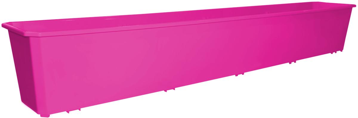 Ящик балконный InGreen, цвет: фуксия, 100 х 17 х 15 см. ING1808ФКСING1808ФКСБалконный ящик InGreen, изготовленный из высококачественного цветного пластика, предназначен для выращивания цветов и рассады как на балконе, так и в комнатных условиях.