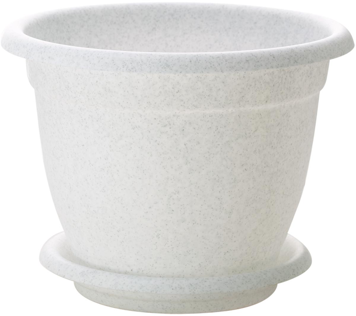 Горшок для цветов InGreen Борнео, с поддоном, цвет: мраморный, диаметр 34 смING42034FМРЦветочный горшок с поддоном InGreen Борнео, выполненный из высококачественного пластика, сочетает в себе классический дизайн и функциональность. Он станет прекрасным дополнением любого интерьера. Горшок имеет дренажные отверстия, что способствует выведению лишней влаги из почвы и предотвращает гниение корневой системы растения. Благодаря специальной крепежной системе поддон прочно крепится к горшку, что обеспечивает удобство эксплуатации изделия. Между стенкой горшка и поддоном есть зазор, который позволяет испаряться лишней влаге и дает возможность прикорневого полива растения. Горшок InGreen Борнео предназначен для выращивания многолетних и однолетних растений.