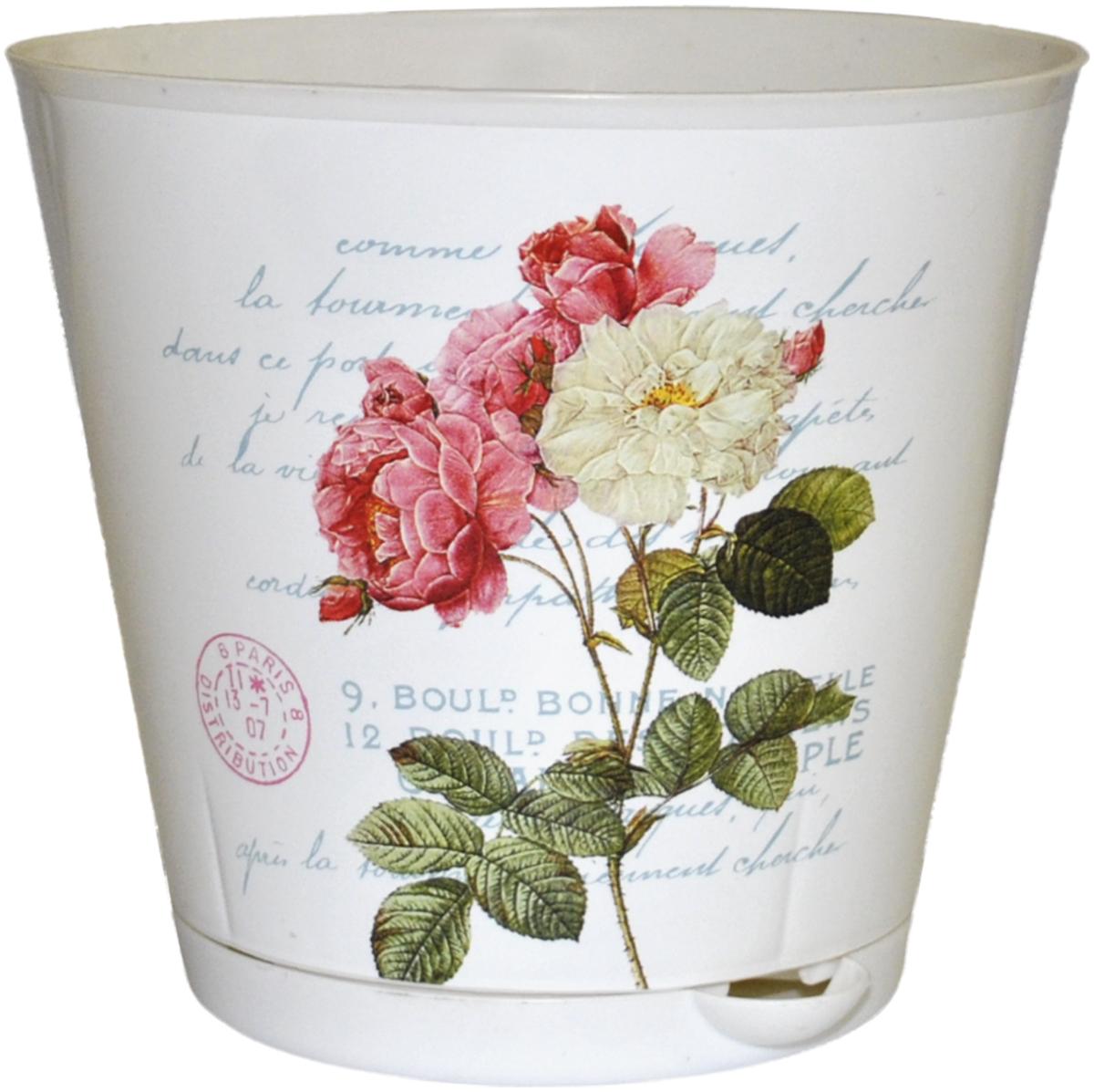 """Горшок для цветов InGreen """"Крит. Прованс"""", с системой прикорневого полива, диаметр 12 см ING46012ПР"""