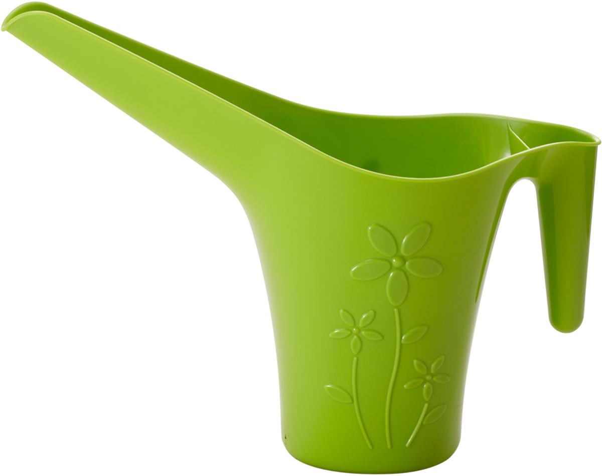 Лейка для полива комнатных цветов InGreen, цвет: салатовый, 1,7 лING50017FСЛЛейка InGreen выполнена из высококачественного пластика. Длинный носик лейки обеспечивает попадание воды непосредственно к основанию растения, а удобная ручка облегчает полив цветов. Оригинальный дизайн изделия и красочное исполнение создадут хорошее настроение. Такая лейка подойдет как для декора в саду, так и для полива цветов дома. Объем: 1,7 л.