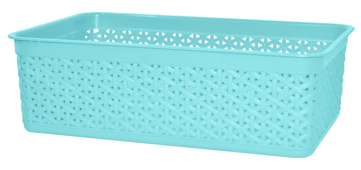 Корзина BranQ Natural Style, цвет: бирюзовый, 25,7 х 15,8 х 8 смBQ1206БРЗУниверсальная корзина BranQ Natural Style изготовлена из высококачественного цветного пластика с перфорацией. Она предназначена для хранения различных мелочей дома, на даче или в гараже. Позволяет хранить мелкие вещи, исключая возможность их потери. Элегантный выдержанный дизайн корзины позволяет ей органично вписаться в ваш интерьер и стать его элементом.