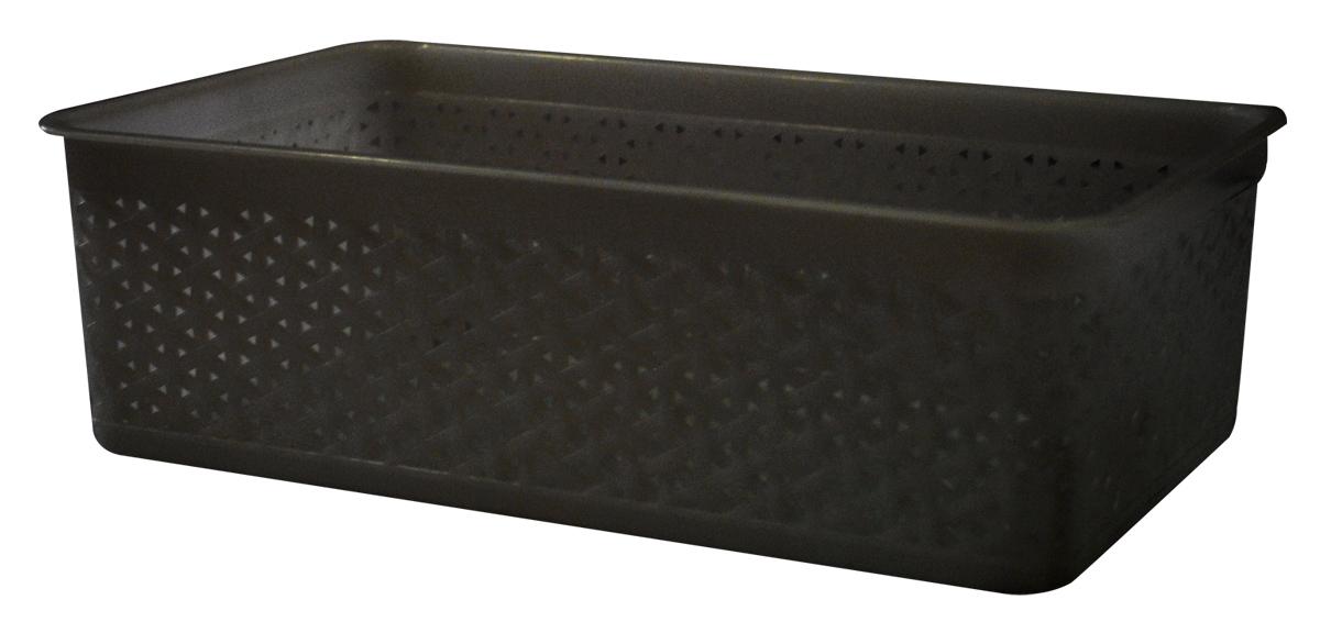 Корзина BranQ Natural Style, цвет: венге, 25,7 х 15,8 х 8 смBQ1206ВНГУниверсальная корзина BranQ Natural Style изготовлена из высококачественного цветного пластика с перфорацией. Она предназначена для хранения различных мелочей дома, на даче или в гараже. Позволяет хранить мелкие вещи, исключая возможность их потери. Элегантный выдержанный дизайн корзины позволяет ей органично вписаться в ваш интерьер и стать его элементом.