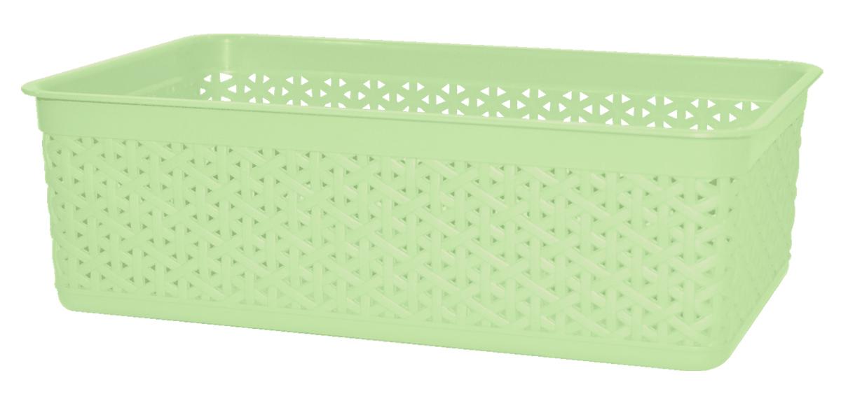 Корзинка универсальная BranQ Natural Style, цвет: фисташковый, 257 х 158 х 80 ммBQ1206ФСТКорзинку удобно использовать для хранения мелких предметов в ванной комнате: расчесок, шампуней, маникюрных ножниц. Корзинка представлена в привлекательных пастельных тонах. Яркая этикетка привлечет внимание покупателей на полке магазина.