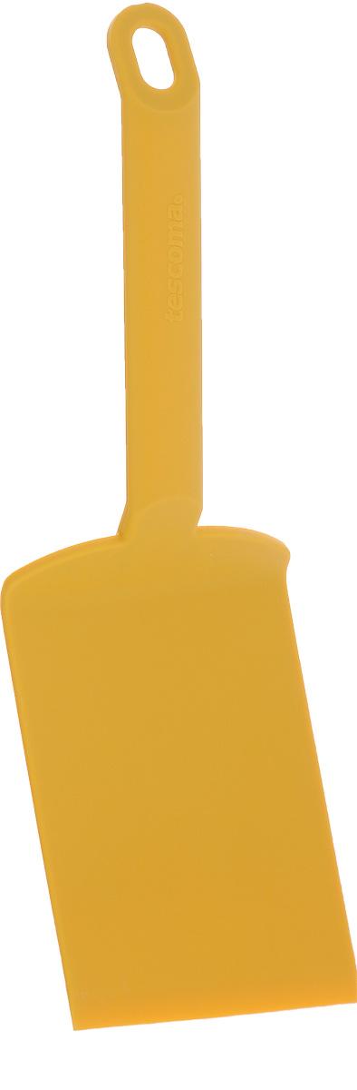 Лопатка для лазаньи Tescoma Space Tone, цвет: желтый, длина 26 см638057_желтыйЛопатка для лазаньи Tescoma Space Tone изготовлена из высококачественного термостойкого нейлона. Изделие оснащено эргономичной ручкой, которая не скользит в руках и делает ее использование удобным и безопасным. Ручка снабжена специальным отверстием для подвешивания. Подходит для всех видов посуды, особенно с антипригарным покрытием. Лопатка Tescoma Space Tone займет достойное место среди аксессуаров на вашей кухне. Можно мыть в посудомоечной машине. Длина изделия: 26 см. Размер рабочей поверхности: 12 х 8 см.