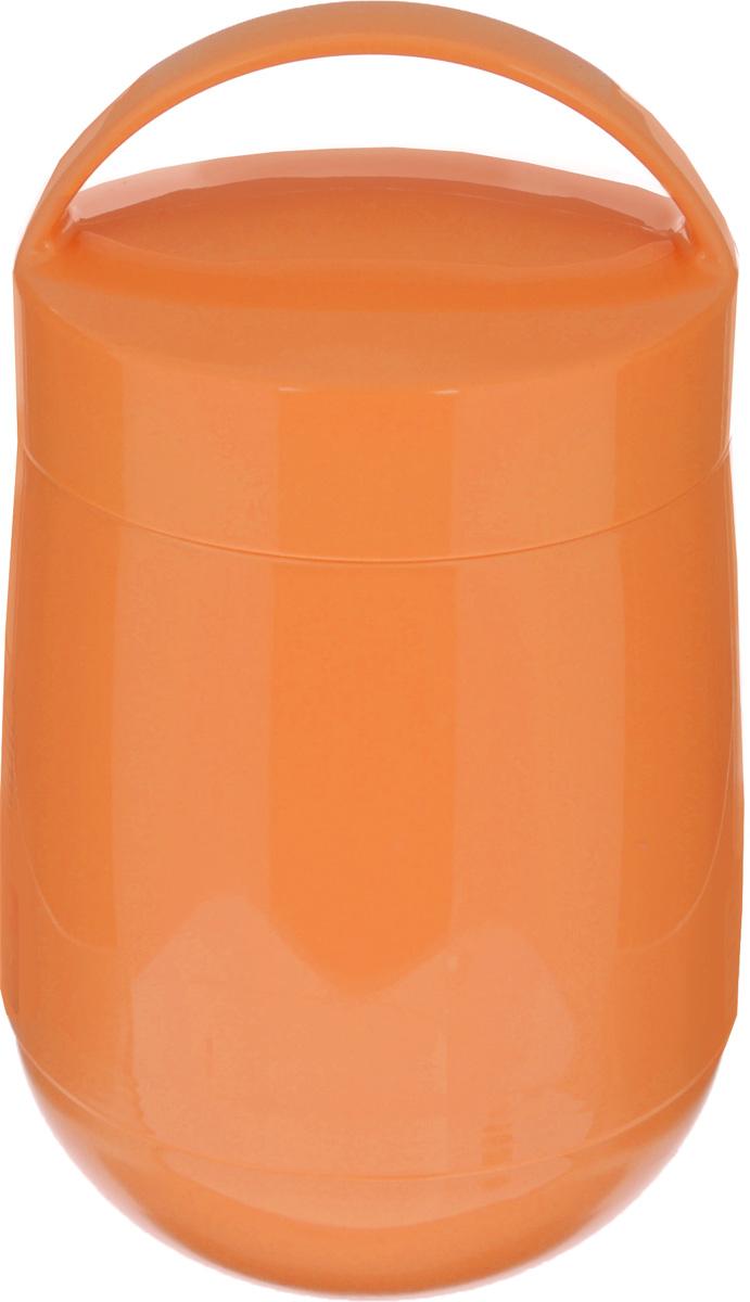 Термос для продуктов Tescoma Family, цвет: оранжевый, 1,4 л310586_оранжевыйТермос для продуктов Tescoma Family предназначен для хранения и переноски теплых и холодных блюд. Термос имеет две пластиковые емкости. Продукты можно хранить непосредственно в стеклянной колбе либо в пластиковых емкостях, которые вкладываются в изоляционную колбу. Особо рекомендуем использовать пластиковые емкости для продуктов с высоким содержанием жиров, сахара либо кислот, а также блюд, которые тяжело отмываются со стенок стеклянной колбы. Нейтральные продукты можно хранить непосредственно в изоляционной колбе. Термос имеет удобную ручку для транспортировки. Не рекомендуется мыть в посудомоечной машине. Диаметр малой чаши: 12 см. Высота малой чаши: 4,5 см. Диаметр большой чаши: 12 см. Высота большой чаши: 16,5 см. Диаметр термоса: 11,5 см. Высота термоса без учета крышки: 19,5 см.