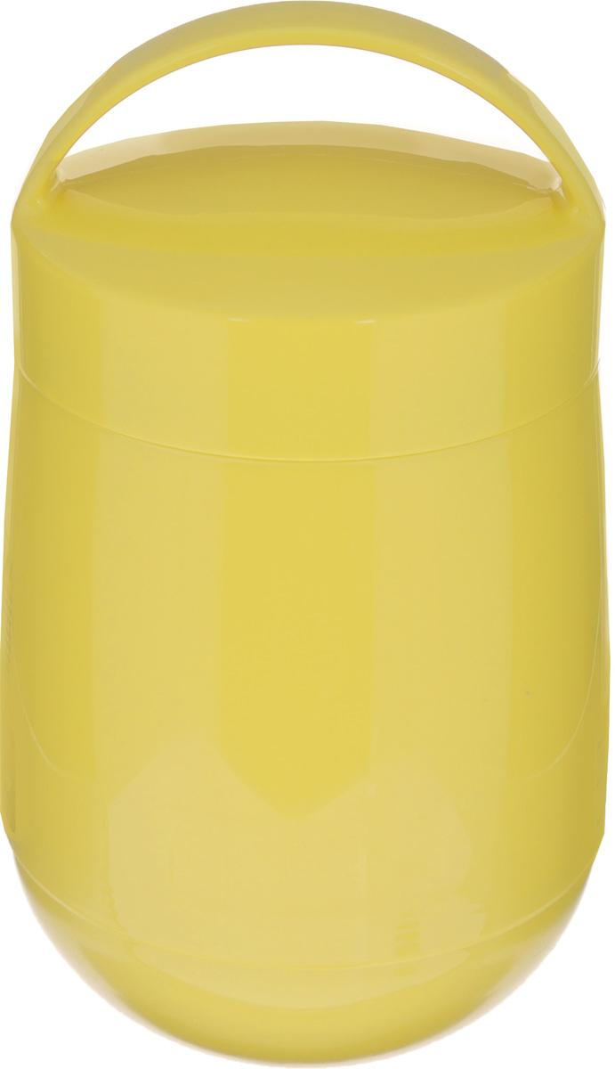 Термос для продуктов Tescoma Family, цвет: желтый, 1,4 л310586_желтыйТермос для продуктов Tescoma Family предназначен для хранения и переноски теплых и холодных блюд. Термос имеет две пластиковые емкости. Продукты можно хранить непосредственно в стеклянной колбе либо в пластиковых емкостях, которые вкладываются в изоляционную колбу. Особо рекомендуем использовать пластиковые емкости для продуктов с высоким содержанием жиров, сахара либо кислот, а также блюд, которые тяжело отмываются со стенок стеклянной колбы. Нейтральные продукты можно хранить непосредственно в изоляционной колбе. Термос имеет удобную ручку для транспортировки. Не рекомендуется мыть в посудомоечной машине. Диаметр малой чаши: 12 см. Высота малой чаши: 4,5 см. Диаметр большой чаши: 12 см. Высота большой чаши: 16,5 см. Диаметр термоса: 11,5 см. Высота термоса без учета крышки: 19,5 см.